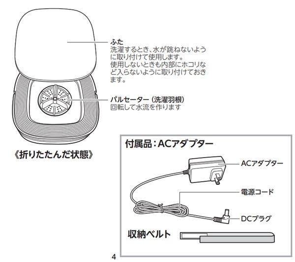 ドウシシャ PIERIA 折りたためる洗濯機 WMW-021 [別洗い/ミニランドリー/折りたたみ]