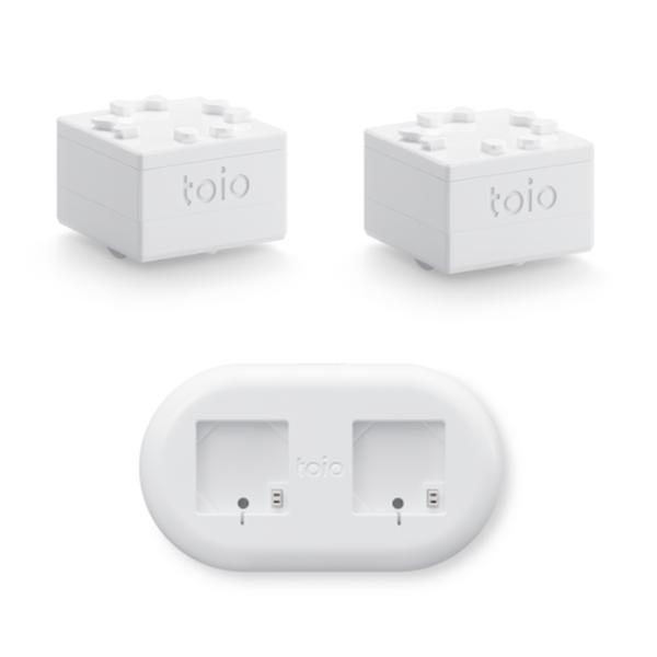 ソニー ロボットトイ toio™(トイオ) 「コア キューブ2個」+「コア キューブ専用充電器(USB端子)」セット