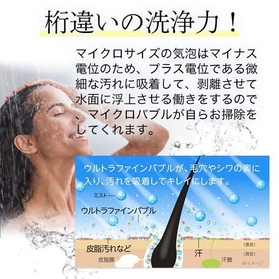 MIRABLE ミラブルラグジュアリー Plus 塩素除去機能付きシャワーヘッド 本体セット[メタルシルバー/スノーホワイト]