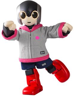 【ロビ専用】 ウェア フーディ(ツーピース) ライトグレー&ピンク×ネイビー