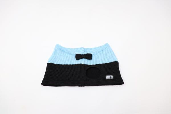 【Musio(ミュージオ)公式ウェア】ニットTシャツ スカイブルー&ブラック
