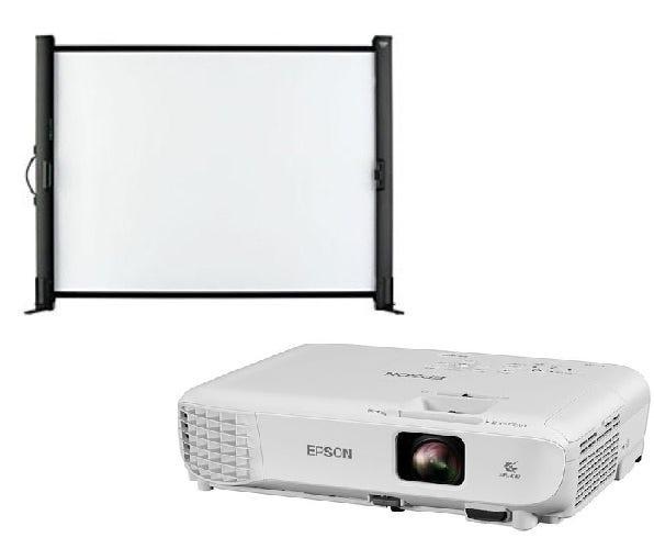EPSON ビジネスプロジェクター EB-S05 & 携帯型50インチスクリーン ELPSC32 セット
