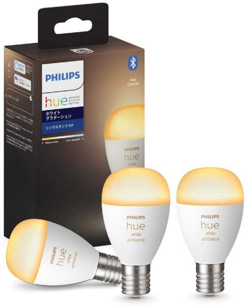 [新品]Philips Hue ホワイトグラデーション E17 Bluetooth+Zigbee 3個セット スマート電球