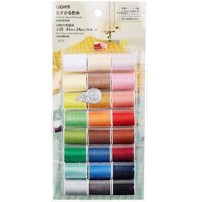 [販売] ミシン用 糸セット レオニス 24色の常備糸