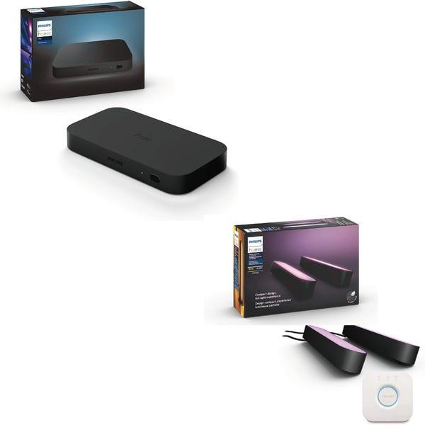 [新品]Philips Hue entertainmentセット「Hue Play ライトバー スターターセット」+「Sync Box」