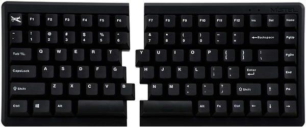 Mistel BAROCCO MD770 RGB  左右分離型キーボード 英語配列 静音赤軸 MD770-PUSPDBBT1