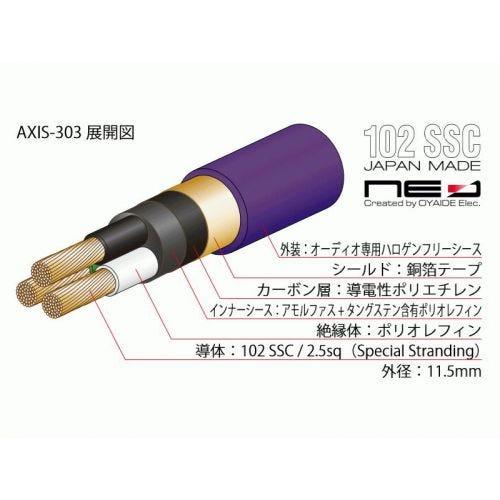 オヤイデ電気 AXIS-303 GX NEO電源ケーブル 1.8m