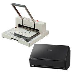 電子書籍化用スキャナと本格裁断機のセット PK-513LNとFI-IX500Aのセット