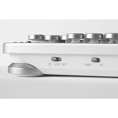 [新品] AZIO レトロクラシック・コンパクトキーボード MK-RCK-W-02-JP[Bluetooth・USB /有線・ワイヤレス]