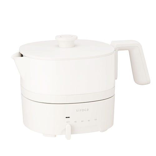 [新品] siroca おりょうりケトル ちょいなべ SK-M152C アイボリー 丸洗い可/温度調整機能